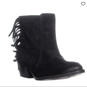 Kenneth Cole Reaction Black Suede Booties S 6.5